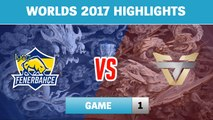 Highlights: FB vs ONE Game 1 - Round 2 Play-In Stage Worlds 2017