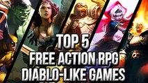 Top 5 Free Action RPG Diablo like Games new