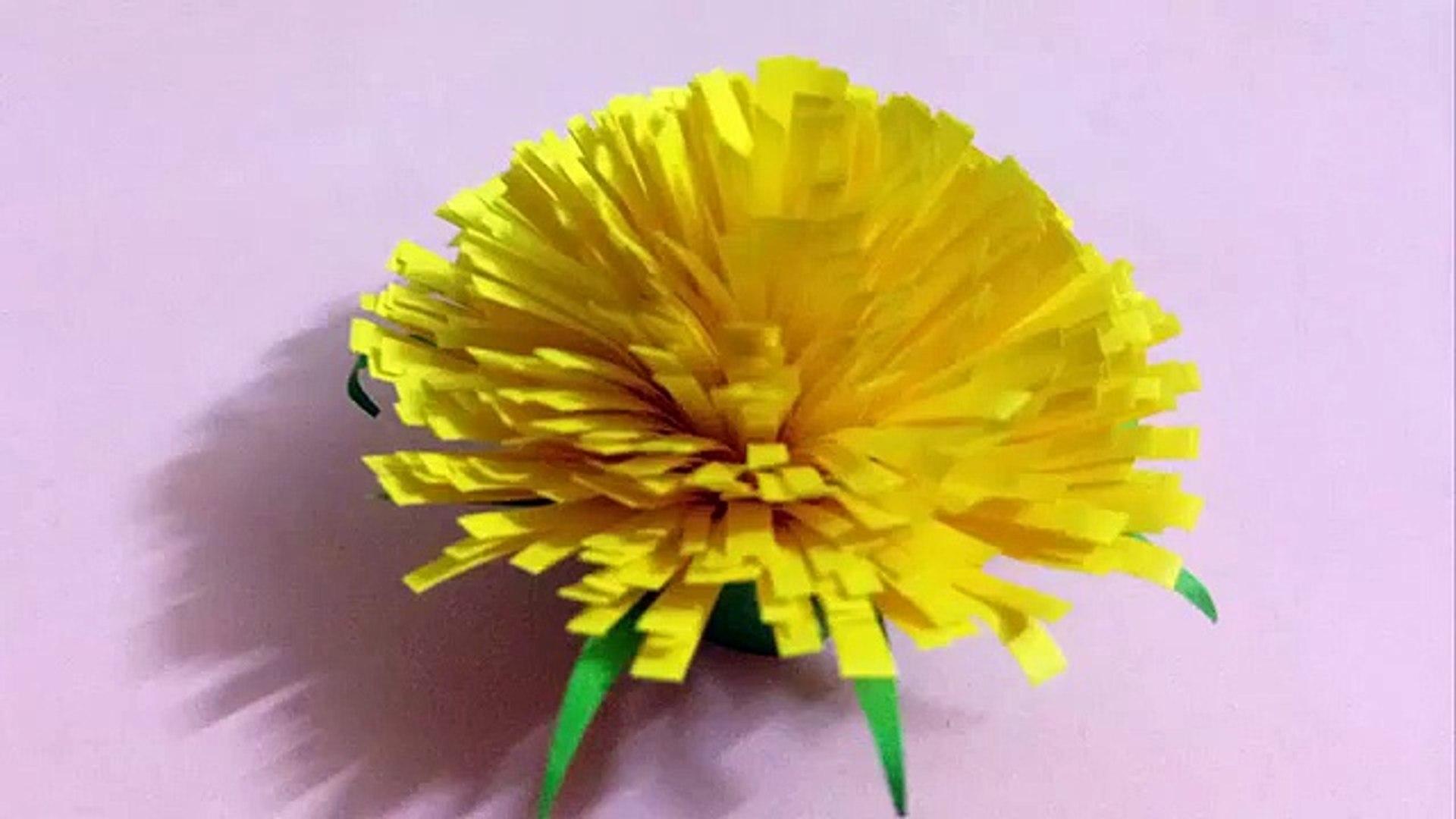 How To Make An Origami Gerbera Flower || Origami Gerbera Flower ... | 1080x1920