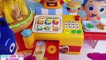 Learn Colors PJ Mask Playdoh Tubs Anpanman Hamburger Shop Paw Patrol Minnie Mouse Bubble Guppies