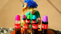 Learn colors with Coca Cola Mentos Bath Experiment for kids - Shrek fun toddlers video