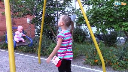 Кукла Беби Бон и Ярослава КАК МАМА Гуляем на Детской Площадке, Купаем и Укладываем Спать Baby Born