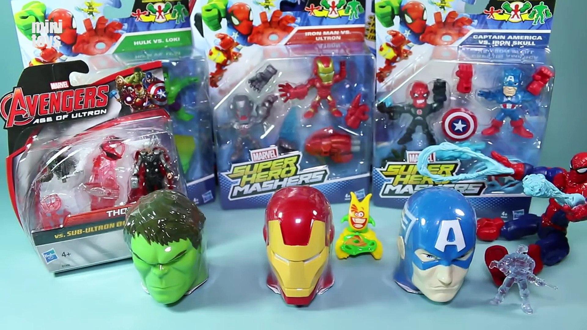 Marvel Superhero Mashers Micro Captain America Vs Iron Skull