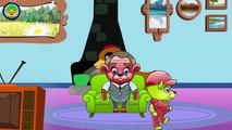 Mega Gummy Bear Attacked by Big Foot New Episode Finger Family Song Surprise Eggs Nursery Rhymes