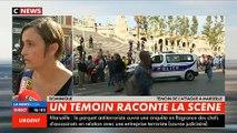 Marseille - Une jeune femme qui a assisté à toute la scène raconte sur CNews, en larmes, l'attaque des passagers