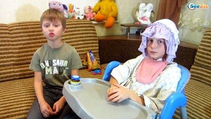 BAD BABY Кормим МАЛЫША - ДЕТСКИЕ ШАЛОСТИ ВРЕДНЫЕ ДЕТКИ Видео для детей