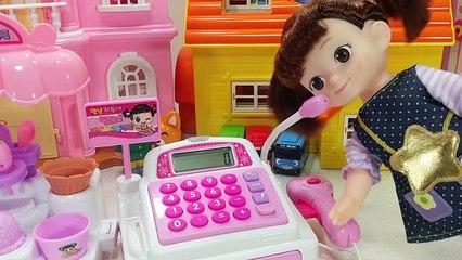 콩순이와 멜로디 아이스크림 마트 계산대 아기인형 뽀로로 장난감놀이 Melody ice cream mart cash register Baby Doll pororo toys play