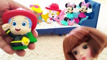 Bubble Guppies and Mickey Mouse Jumping On the Bed   5 Little Monkeys Jumping on the Bed Baby Rhymes