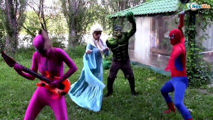 Disney Princesses and Babies! Singing w/ Princess Anna and Frozen Elsa and Spiderman