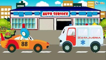 Carros de Carreras es Amarillo - Dibujo animado de coches - Carritos Para Niños