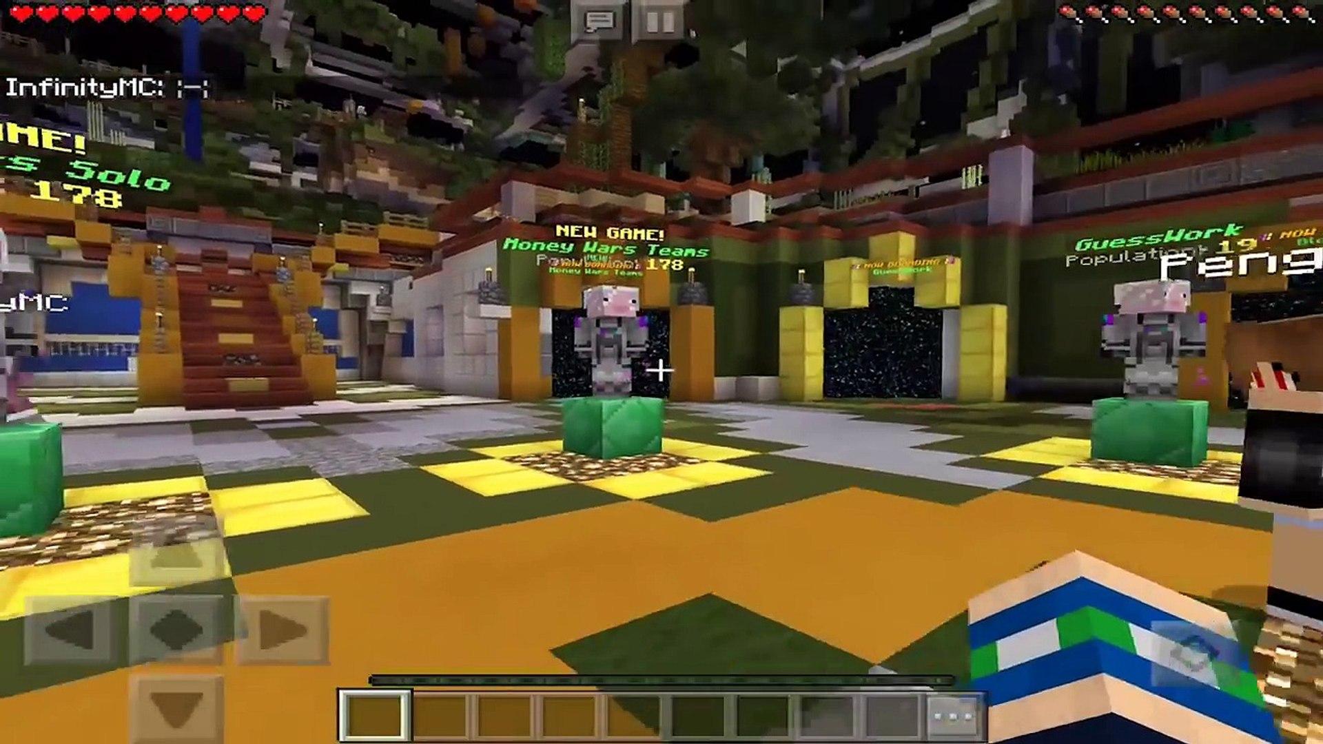 Inpvp Money Wars Server Minecraft Pe Egg Wars Build Battle Blockhunt Video Dailymotion