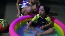 Outdoor Swimming Pool Playtime! Lets go Fishing Play Set Unboxing and Playtime