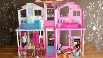 Barbie Dolls Living room Barbie Kitchen Dollhouse Furniture set and Barbie Dreamhouse 芭比豪宅