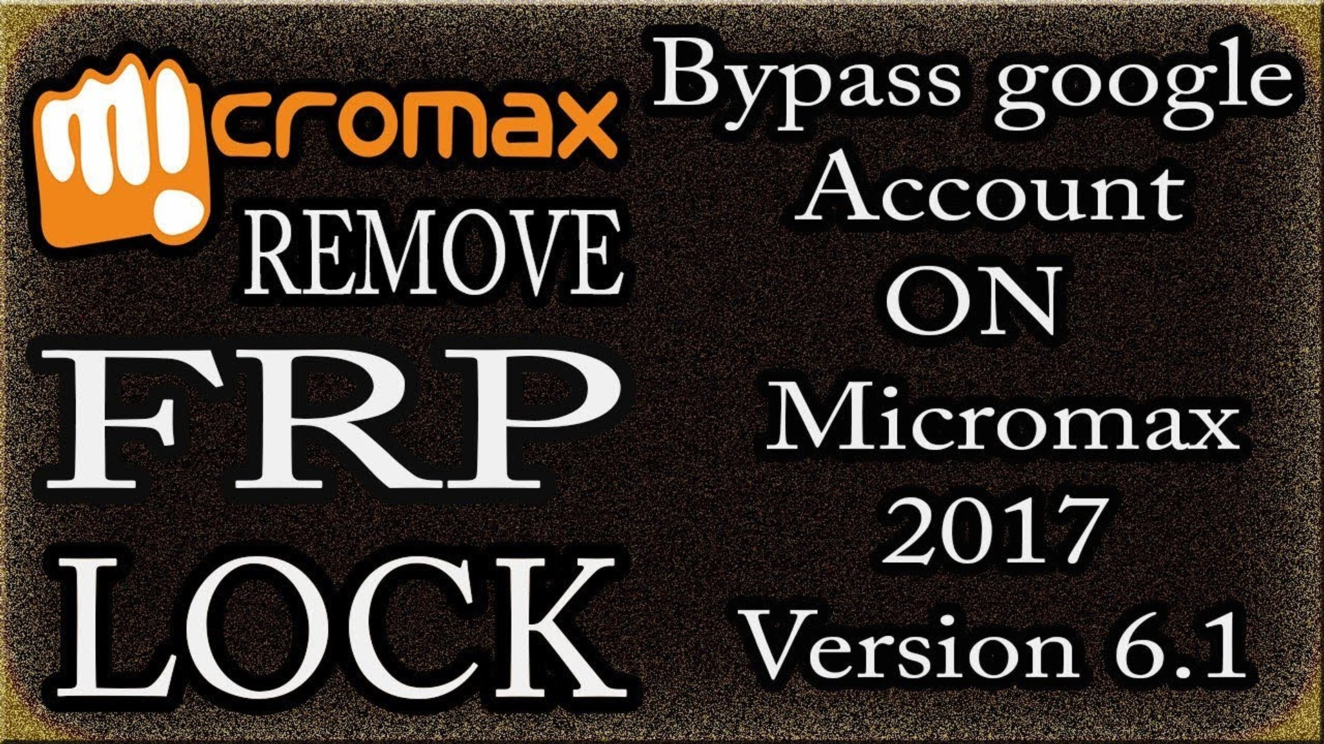 A New Way How To Remove FRP Lock on Micromax Mobile - Bypass google Account  verification 2017