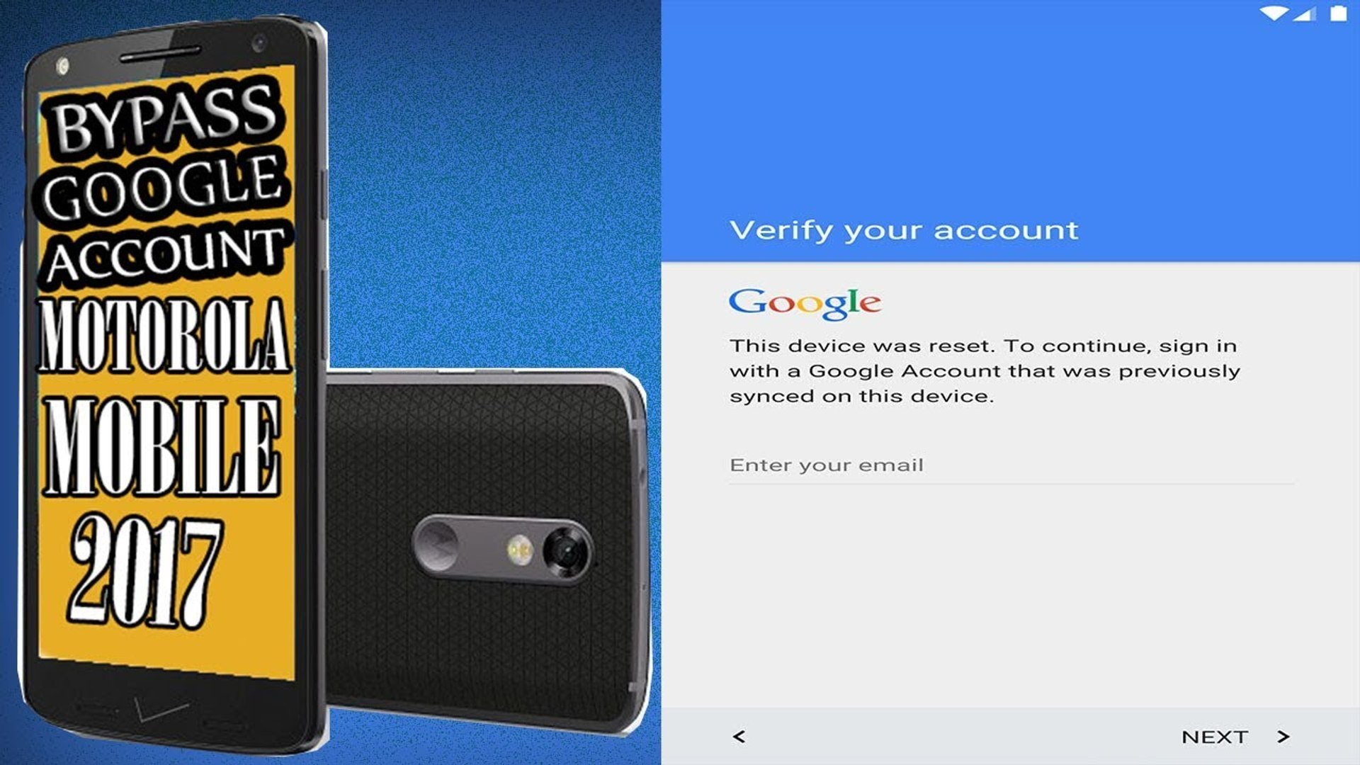 How To Bypass Google Account - Motorola Droid Turbo 2 - How To Google  Account Verification -Motorola 2017