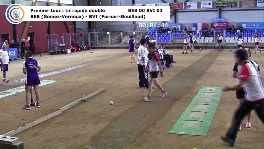 Premier tour, tir rapide en double, Club Elite Féminin J1, Bourg en Bresse contre Bièvre Isère, octobre 2017