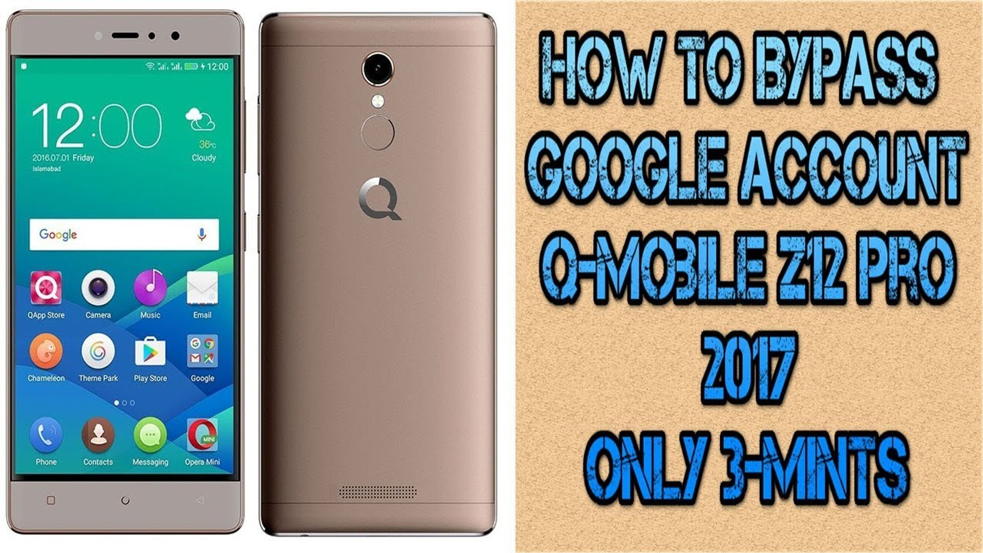 How To Bypass Google Account on Q-Mobile - QMobile Z12 Pro - bypass google  account verification 2017