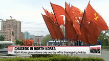 N. Koreans get only one day off for Chuseok holiday