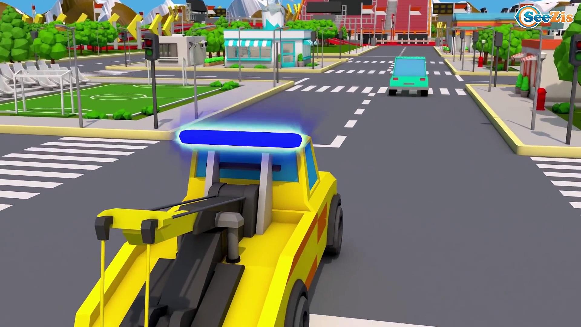 Super Red Truck CRASH on the Road in Trucks City | Trucks Cartoon for kids | Cars & Trucks Stories