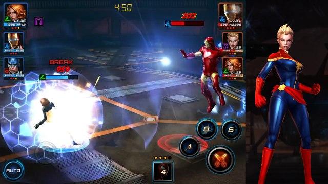 Marvel Future Fight - 3 Star Captain Marvel Unlocked - Striker Feature Explained