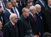 Şehit Yüzbaşı Erdal'ın Cenazesinde Erdoğan, Kılıçdaroğlu ve Bahçeli Yan Yana Saf Tuttu