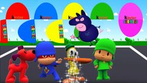 Colors for Children to Learn with Pocoyo, Loula, Pato, Elly Surprise Eggs Learning Videos