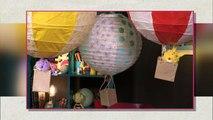 Vidéo mini atelier de Tiji : une suspension montgolfière