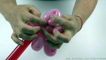 Цветок из воздушных шаров / How to make a flower of balloons