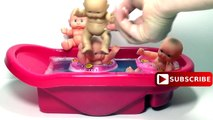 Five Little Baby Jumping on The Pool Song for Babies - Baby Jumping on the Water Bed