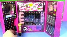Monster SKULL Makeup Case! Blush Eyeshadow Nail Polish Lip Gloss! Monster High Lip GLOSS!