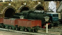 Very old Model Train Layout like Tinplate Trains
