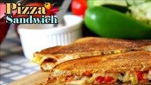Pizza Sandwich Recipe   Easy Sandwich Recipes   Quick Breakfast Recipes kids Tiffin box ideas