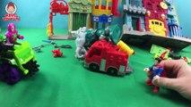 Imaginext DC Super Friends Lex Luther Hauler and Doomsday Battle Superman Hulk Optimus Prime Toys