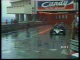 Gran Premio di Monaco 1984: Ritiro di C. Fabi, toccata di A. Senna sul cordolo e sorpasso di Mansell a Prost