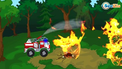La Grande Excavadora y El Camión infantiles - Caricatura de Carritos Para Niños
