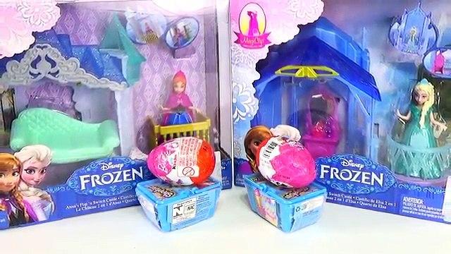 Frozen Elsa e Anna Quarto do Castelo Shopkins Barbie Ovos Surpresas Disney Toys. Em Português