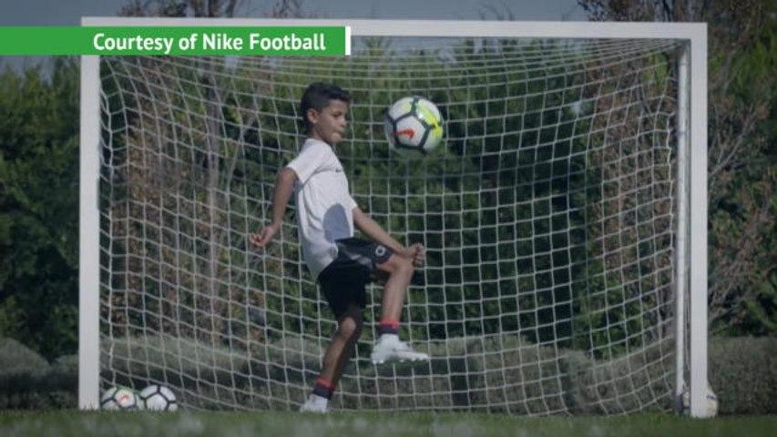 Ronaldo - senior and junior - show off their skills
