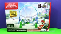 MARIO KART Nintendo Super Mario Brothers Infinity Loop a Mario Kart Video Toy Review