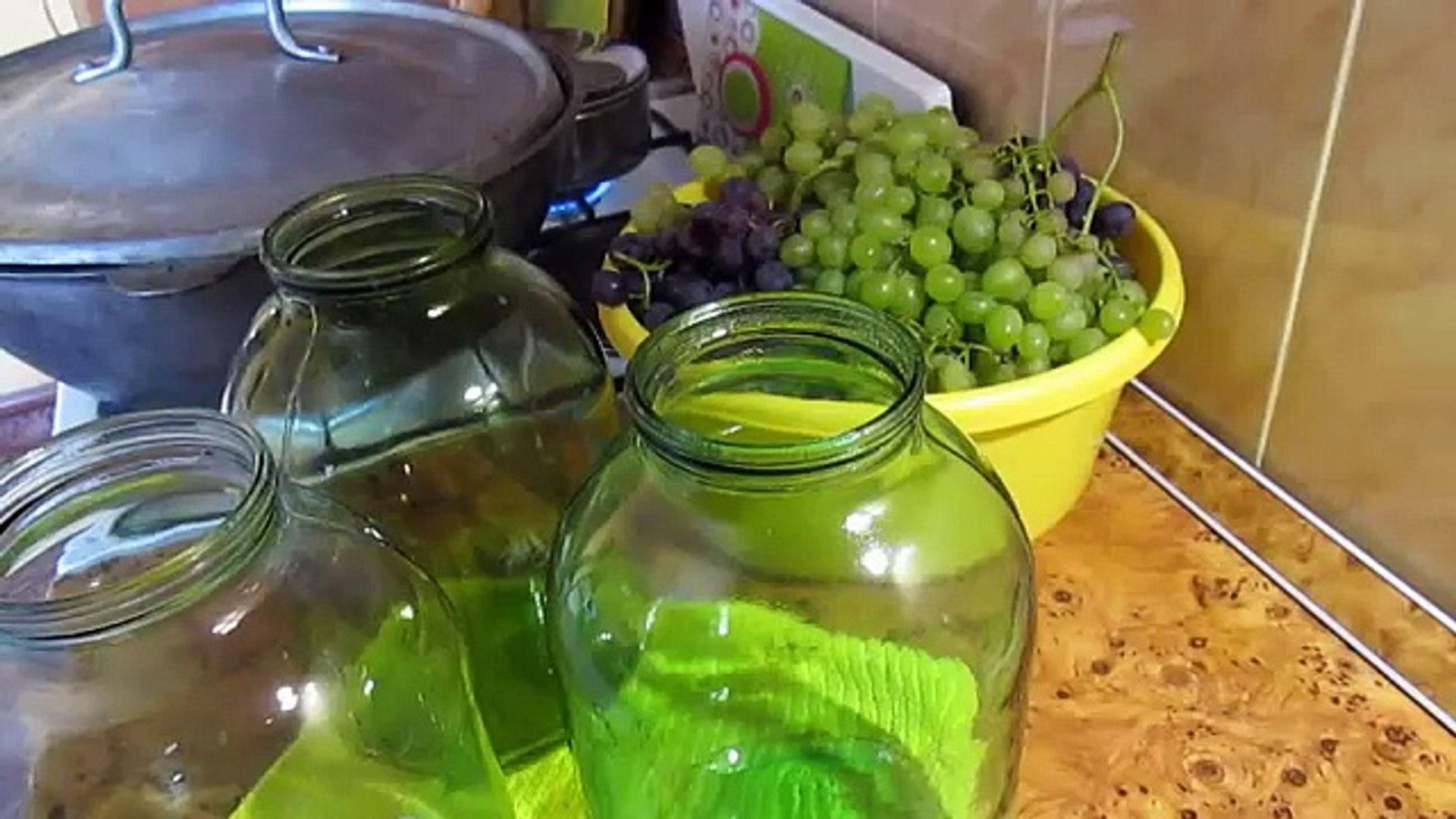 VLOG:Готовлю компот из винограда,убираем овощи,ящик грибов.