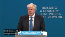 Boris opens conference speech with message to Las Vegas