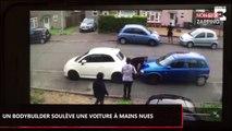 L'incroyable technique d'un bodybuilder pour déplacer une voiture (Vidéo)