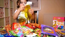 MunchPak Candy Tasting Challenge for Kids: skittles, gummy, chocolate, crisps, chips, sweets