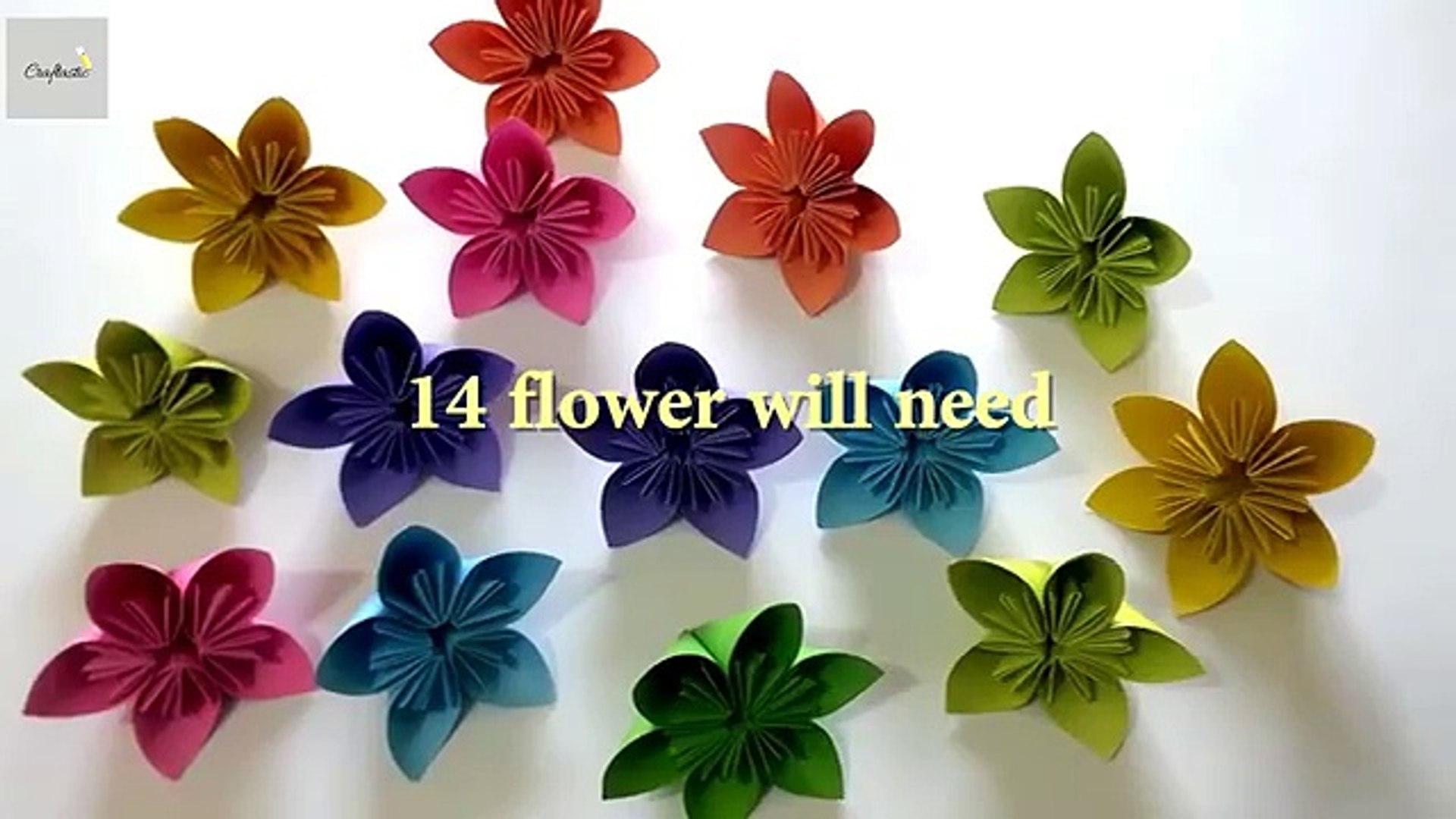 DIY Beautiful Origami Paper Rose Bouquet | Paper roses, Paper ... | 1080x1920