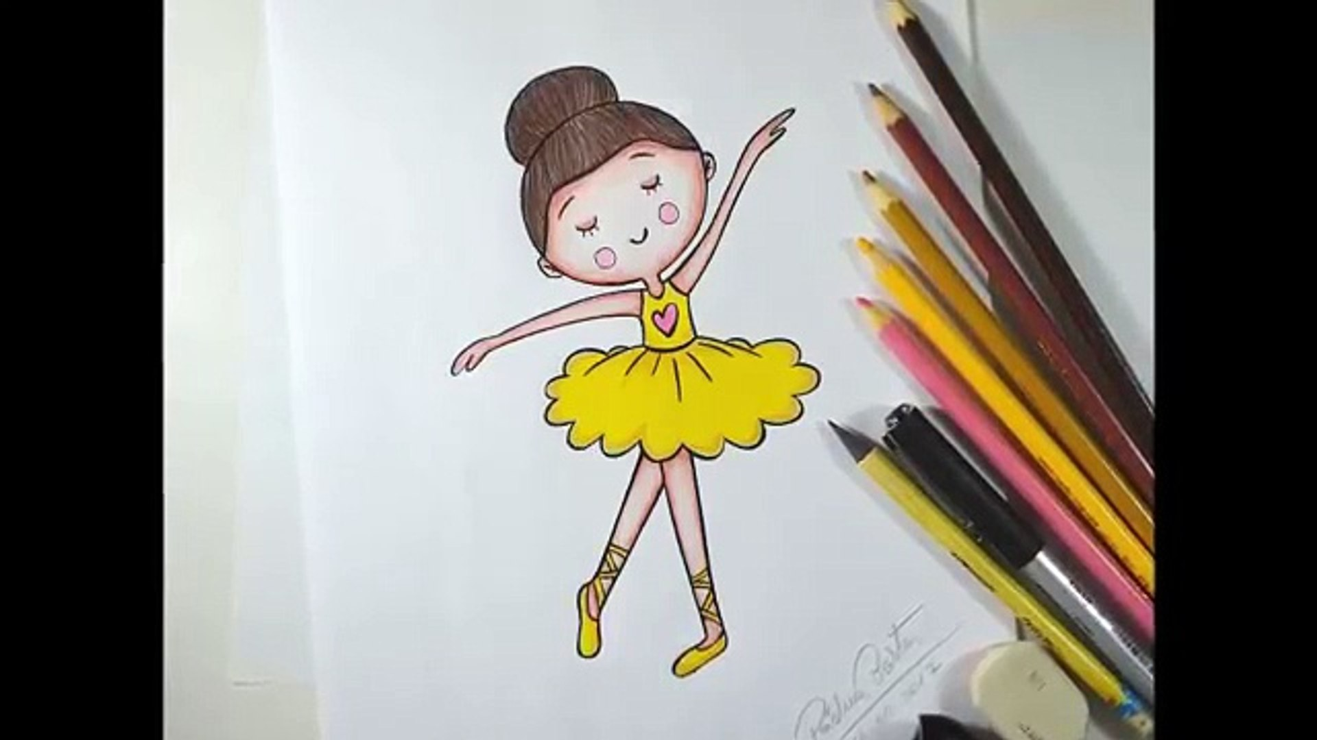 Como Desenhar Bailarina Tumblr Passo A Passo