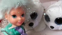 Anna and Elsa Snow Holiday # 2 Olaf Toddlers Meet Snow Seal Disney Frozen Slide Fun Toys In Action