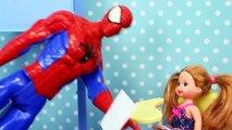 Frozen Kids Barbie Dolls Get Spiderman Teacher & Learn to Not Be Copycats by DisneyCarToys