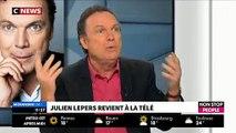 """Julien Lepers sera-t-il chroniqueur dans """"Touche pas à mon poste"""" sur C8 ? Il répond dans """"Morandini Live"""""""