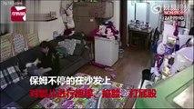 Chine : Une nounou violente filmée en train de maltraiter un bébé (Vidéo)