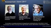 Nobel de chimie à Jacques Dubochet (Suisse) , Joachim Frank (Etats-Unis) et Richard Henderson (Royaoume-Uni)