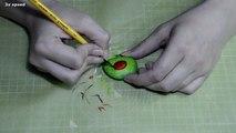 Speed Painting - Rock painting of a ladybug - Steine bemalen Marienkäfer